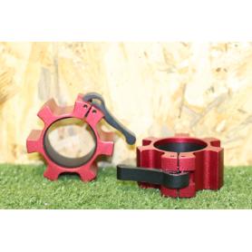 Cierre Rapido Aluminio Rojo x2